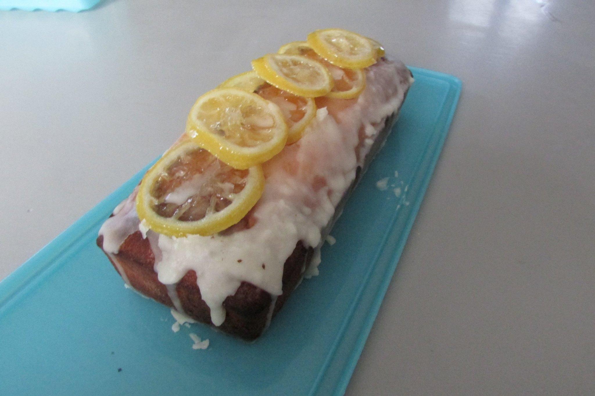 Cake au citron et fondant glacé
