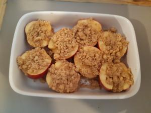 Pommes entières crumble 1